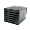 Metro 3439 Desktop Filing Drawers B4 6 Drawers Black 234396