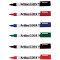 Artline 550A Whiteboard Marker 1.2mm Bullet Assorted 12/Pack