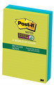 Post-it 660-3SST 30% Recycle Lined Super Sticky Notes Tropical 98x149mm 3Pads/Pack