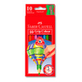 Faber-Castell Junior Triangular Extra Thick Colour Pencils 10/PK