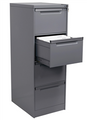 Lateral Filing Cabinet Package, 4 Drawer Filing Cabinet, 1325 x 467 x 610 mm Graphite Ripple