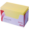 Esselte System Cards Yellow (6x4) 152x102 Pk/300