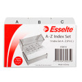 Esselte Index File Card PVC A-Z 127x76 (5x3) Grey