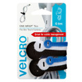 VELCRO® Brand Reusable Ties Assorted Colours & Sizes 6PCS