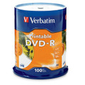 Verbatim® DVD-R - 4.7GB White Inkjet Printable (Pack of 100)