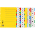 Marbig A4 Extra Wide 10 Tab PP Dividers 36200