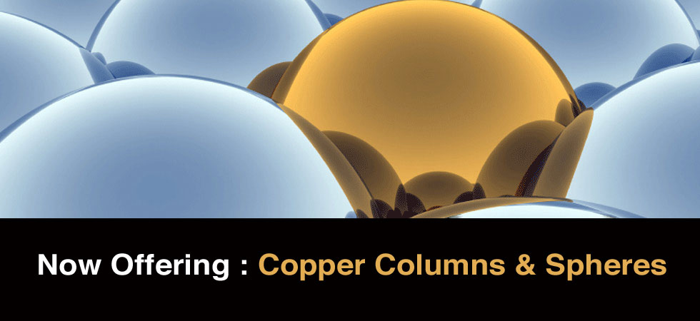 Now Offering Copper Balls and Columns | EasySpheres