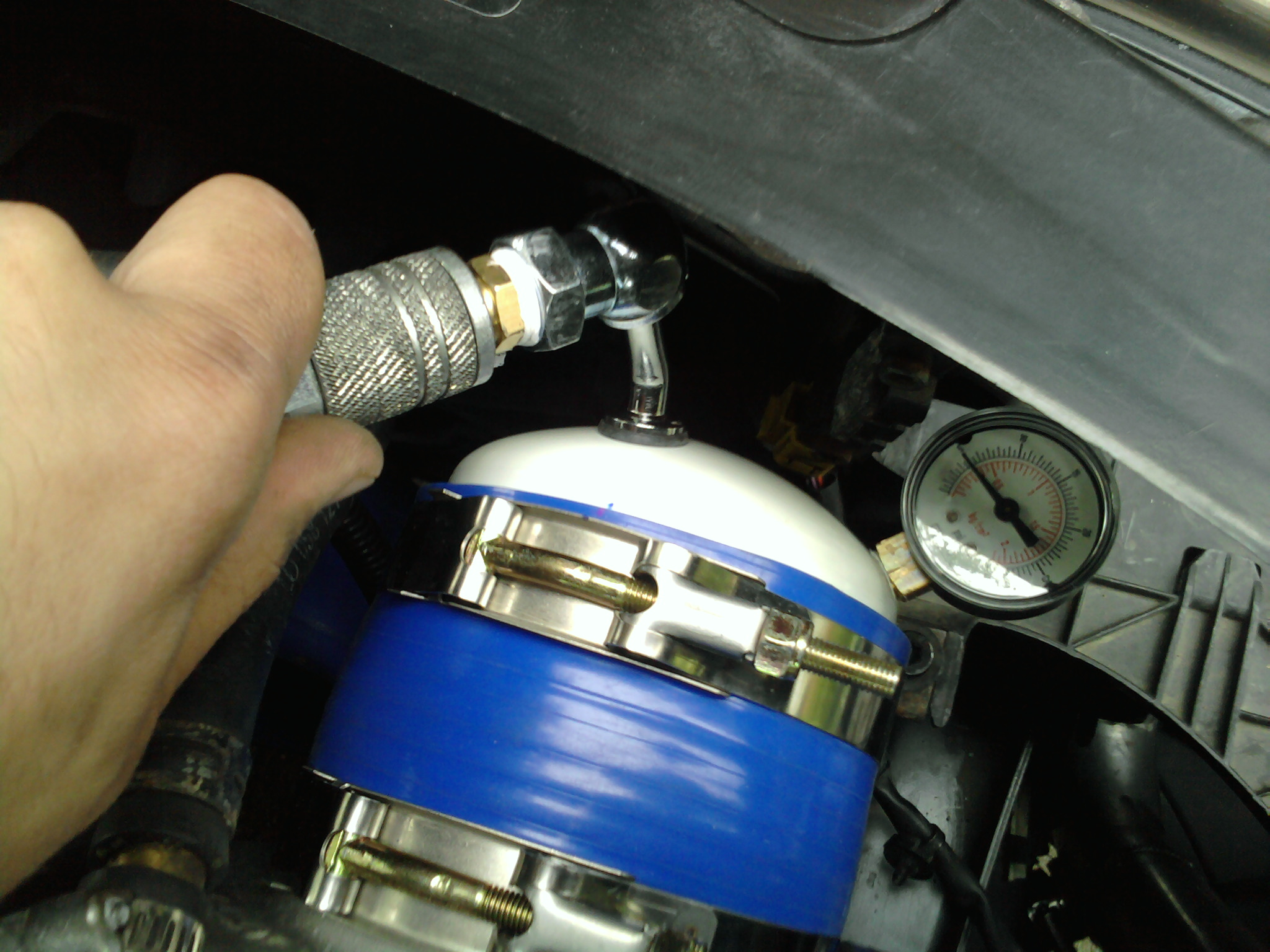 how to boost leak test