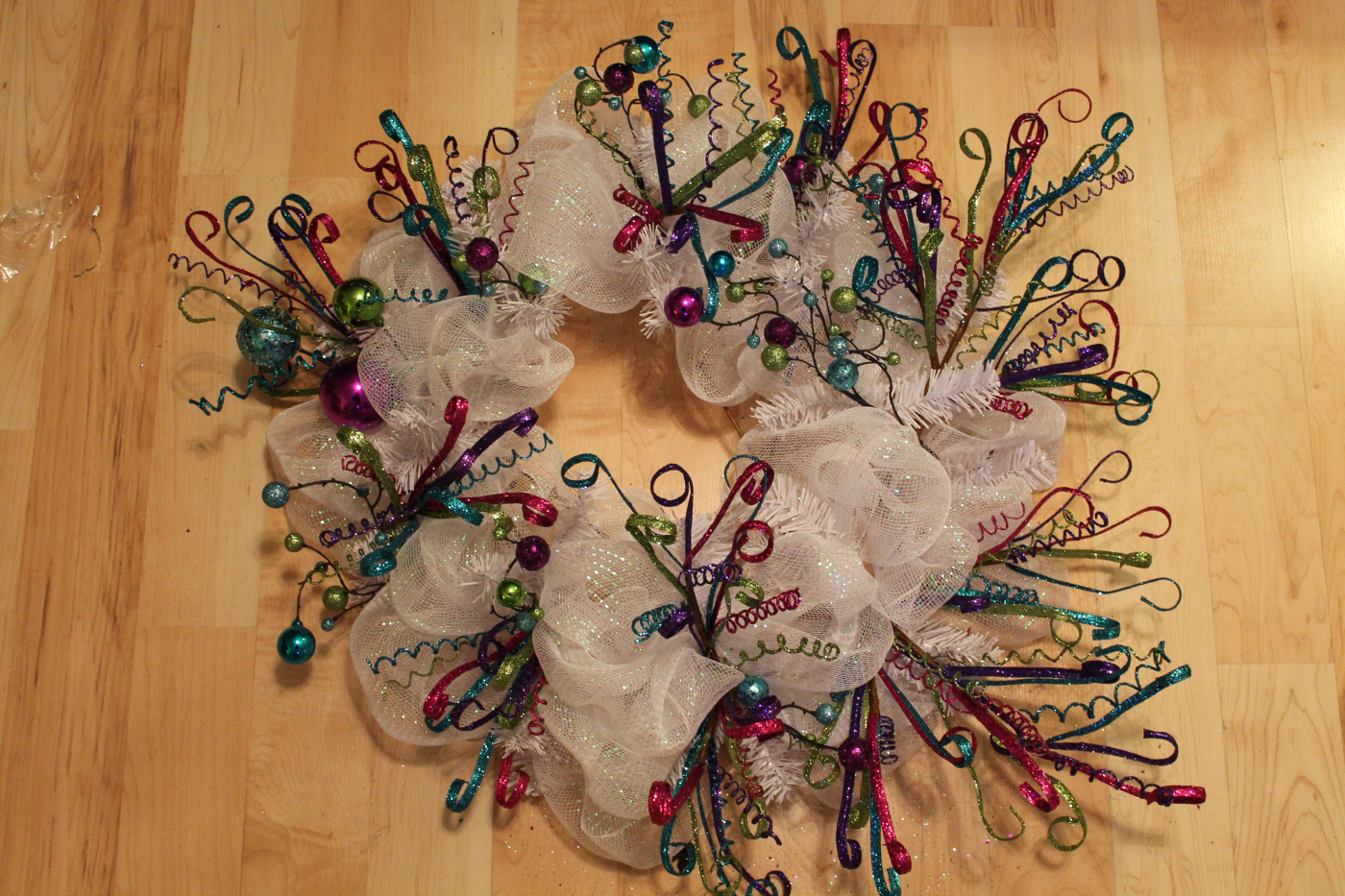 Amazing wire mesh wreaths images electrical and wiring diagram diy deco mesh wreath tutorial happy new year the wreath depot baditri Images