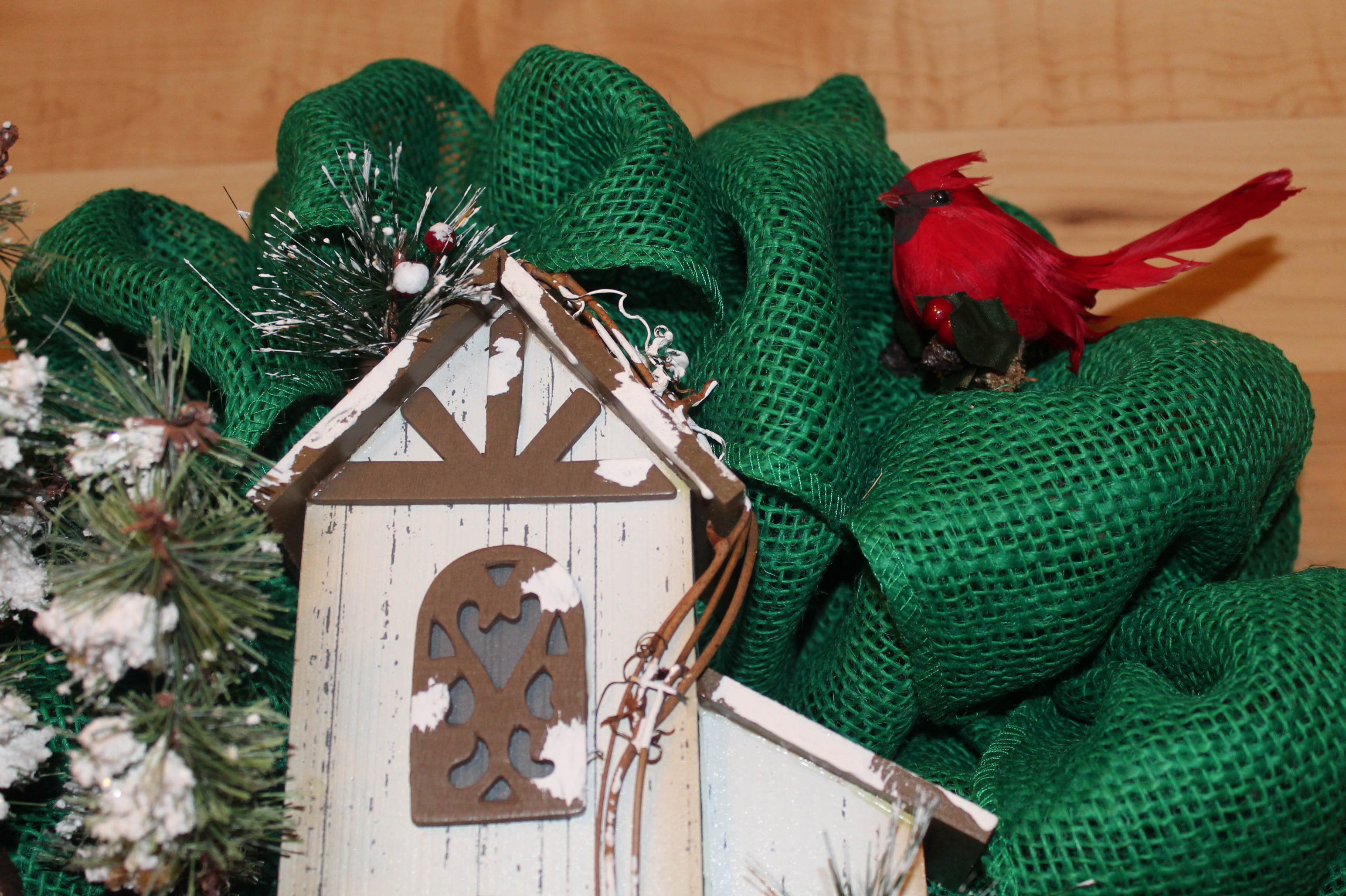 Burlap bird ornaments - Burlap Bird Ornaments 52