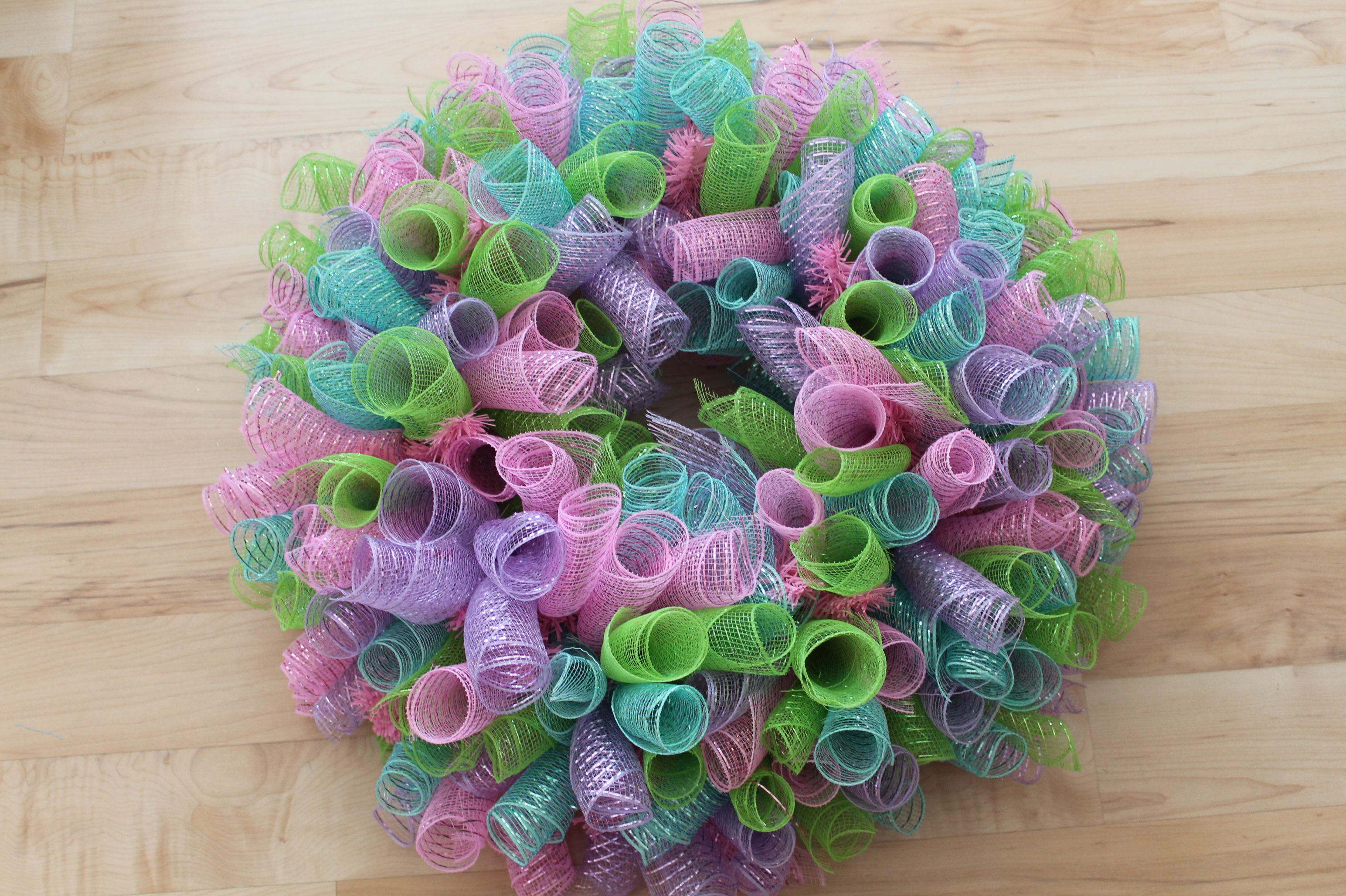 DIY Mesh Easter Wreath - The Wreath Depot