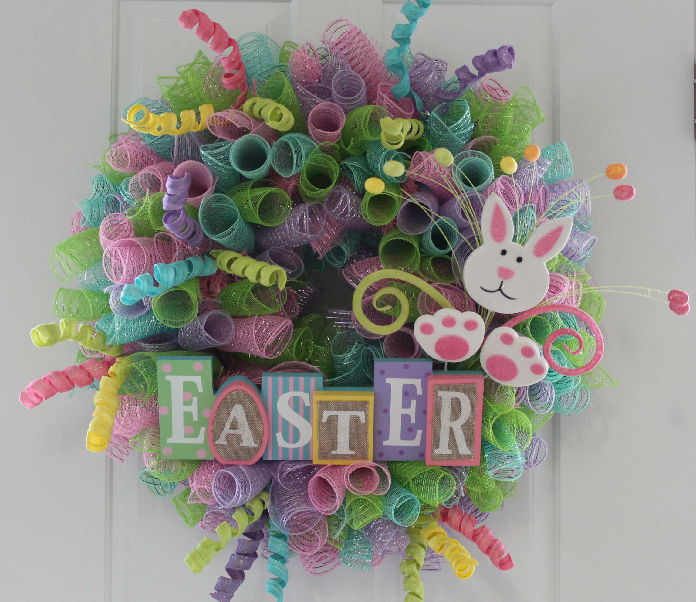 DIY Mesh Easter Wreath - The Wreath Depot
