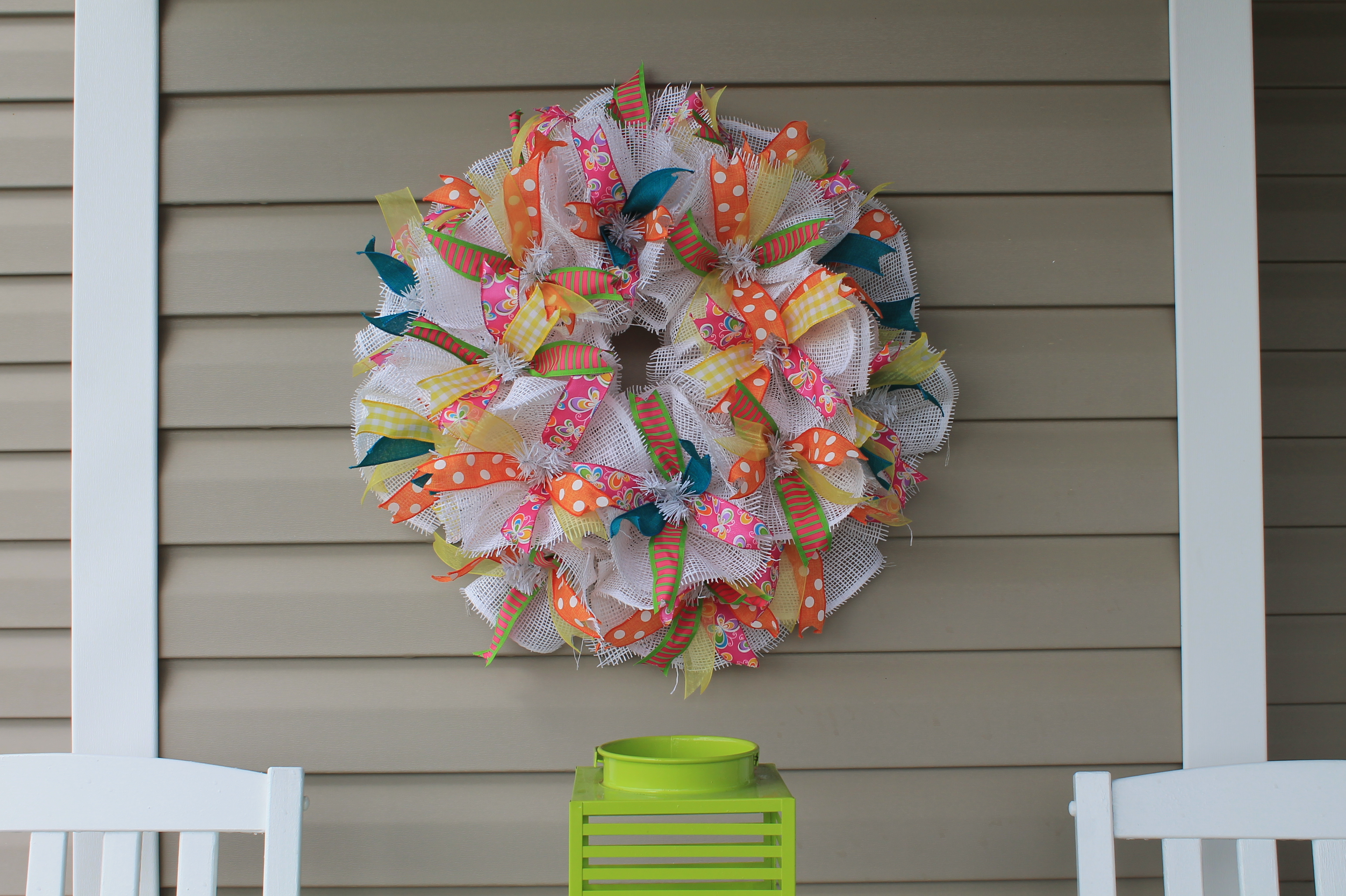 Diy spring recycled mesh paper wreath the wreath depot img 2536g jeuxipadfo Image collections