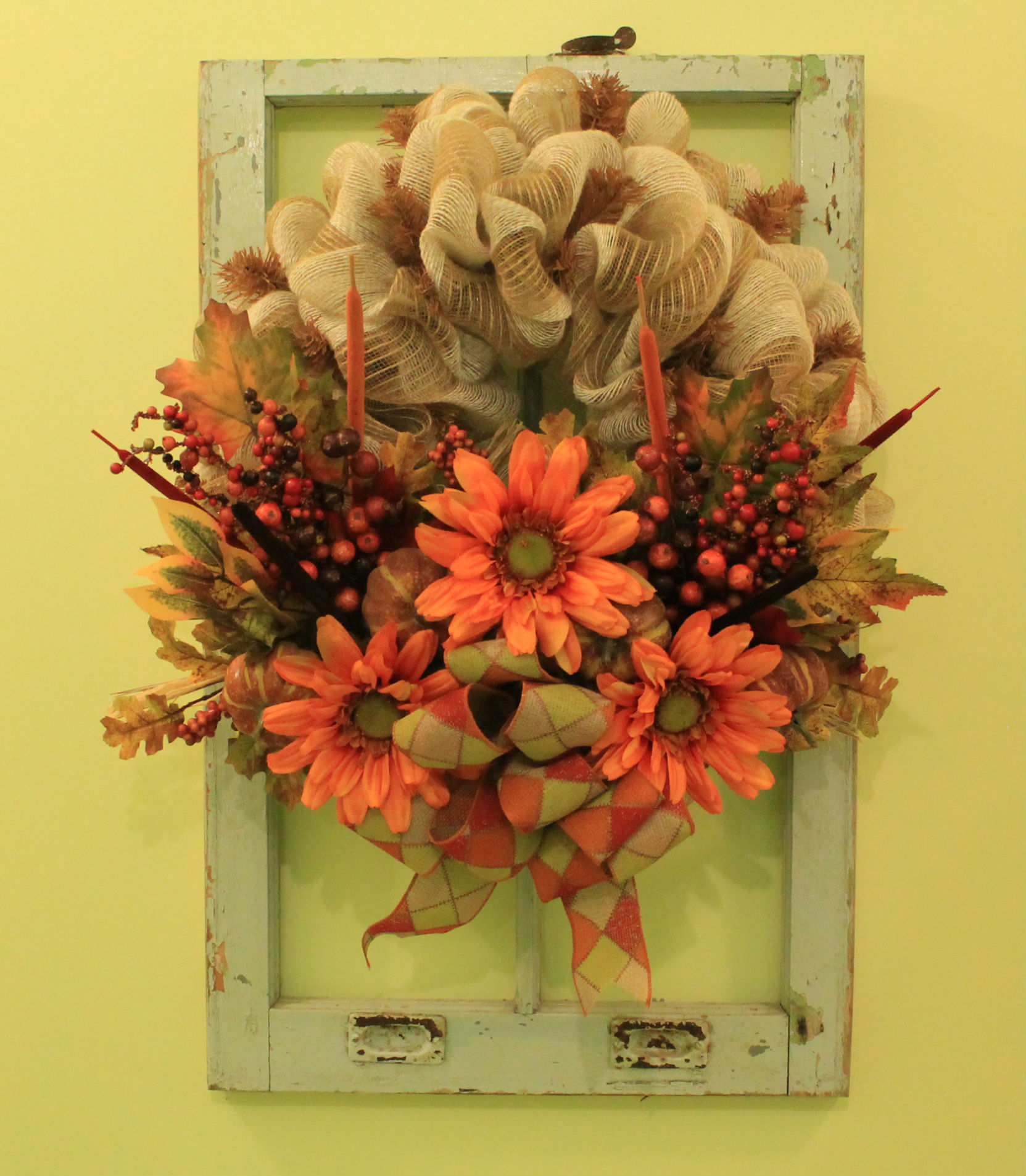 Diy Quot Basket Of Flowers Quot Fall Mesh Wreath The Wreath Depot