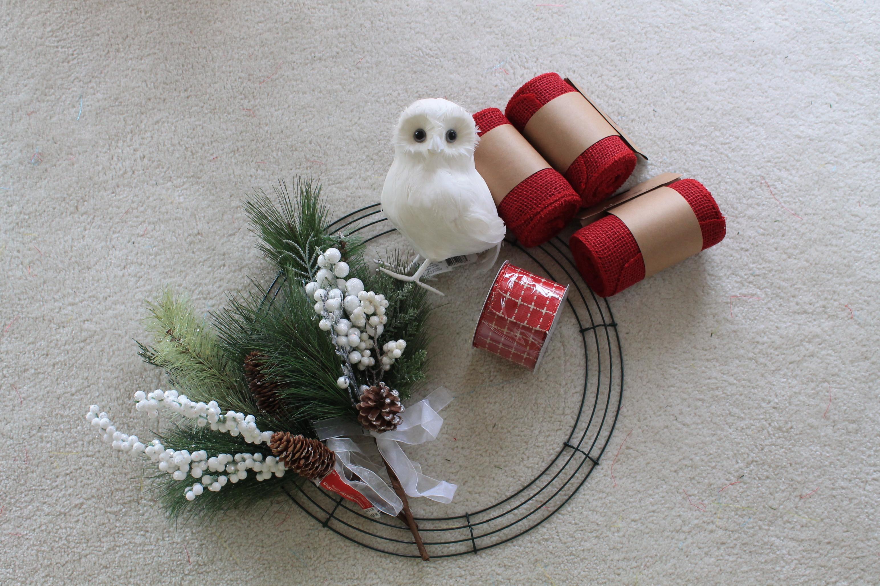 DIY Burlap Snow Owl Wreath The Wreath Depot