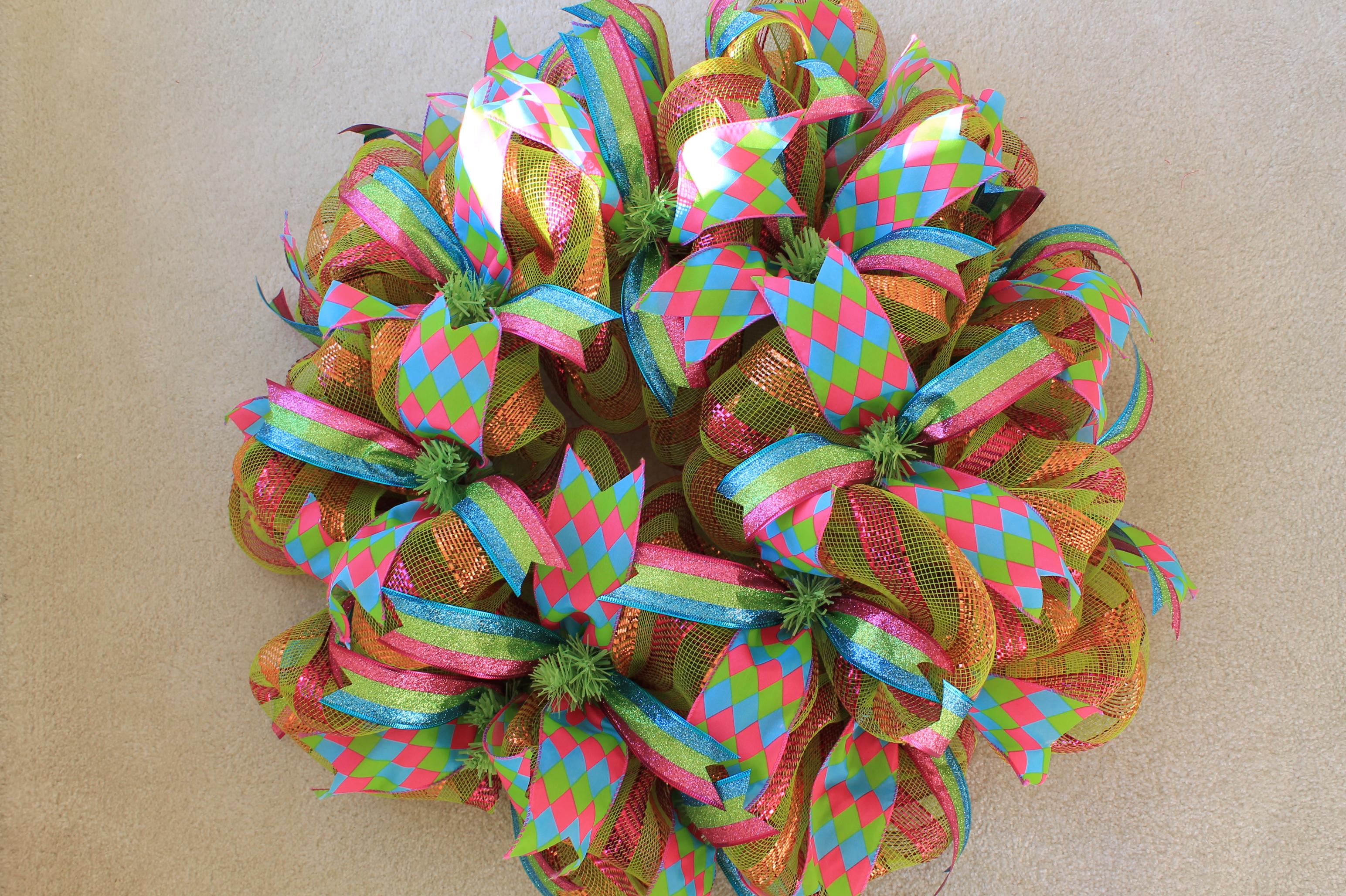 Diy Mesh Quot Mardi Gras Quot Wreath The Wreath Depot