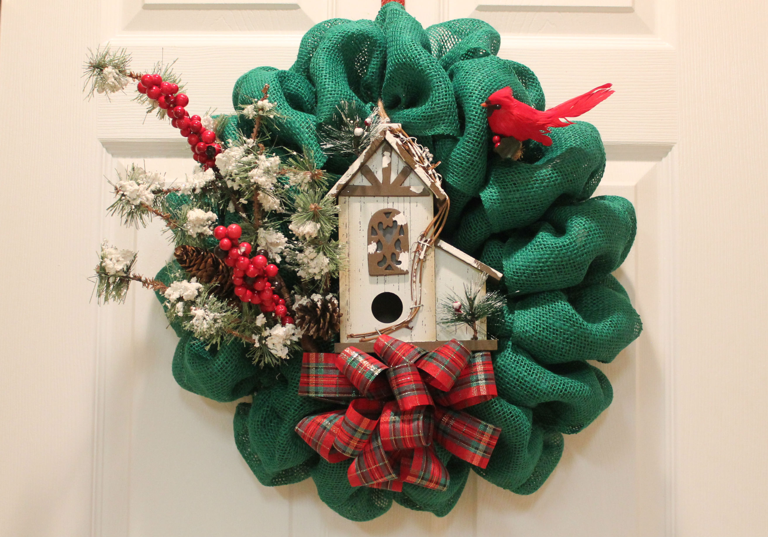 Blog diy burlap christmas wreath woodland bird house solutioingenieria Gallery
