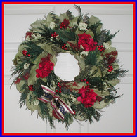 The Arlington Patriotic Wreath - 16in.