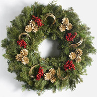 Ashburn Fresh Christmas Holiday Wreath