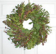 Blush Eucalyptus Wreath - 17 inch