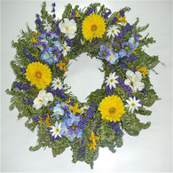 Blue Dreams Summer Wreath 22 in