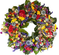 Botanical Rush Wreath - 20 in.