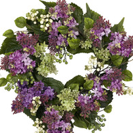 Bright Eyes Lilac Silk Door Wreath 20 inch