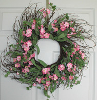 Briana Wreath Silk - 22 inch