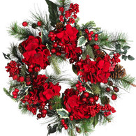 Cardinal Christmas Holiday Wreath 22 inch
