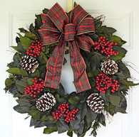 Canella & Cones Holiday Wreath 22 inch