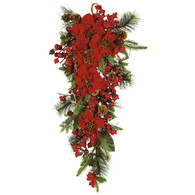 Carousel Poinsettia Tear Drop 27 inch