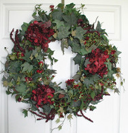 Chariton Silk Door Wreath - 22 in