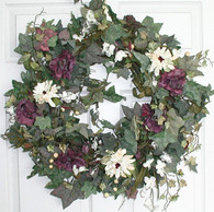 Chalice Silk Door Wreath - 24 in