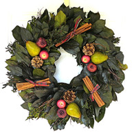 Cinnamon Apple Winter Holiday Wreath - 22-24 in