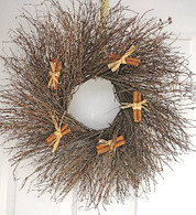 Cinnamon Thicket Wreath - 22 in