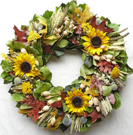 Crestline Autumn Wreath 22 inch