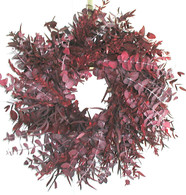 Crimson Tide Eucalyptus Wreath - 17 inch