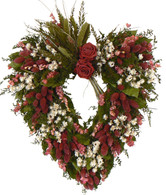 Deep Red Romantic Rose Heart - 17 in