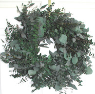 Emerald Bay Eucalyptus Wreath - 17 inch