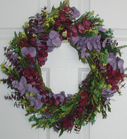 Evening Twilight Eucalyptus Wreath - 17 inch