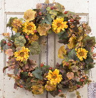 Forgotten Garden Silk Door Wreath - 22 inch