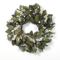 Frosty Mist Salal Wreath - 18 inch