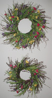 Garden Festival Silk Wreath set of Two - 12 & 16 in