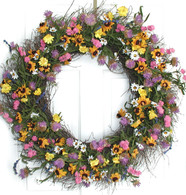 Garden Rainbow Door Wreath - 32 in