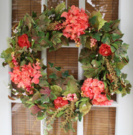 Genesee Silk Front Door Wreath - 22 inch