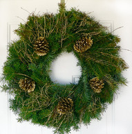 Gilded Holiday Fresh Outdoor Christmas Wreath