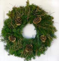 Gilded Holiday Fresh Outdoor Christmas Wreath