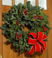 Glad Tidings Holiday Wreath - 22 inch