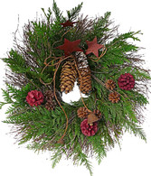 Grandpa's Bells Wreath - 19 inch