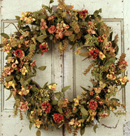 Grayson Meadow Silk Door Wreath - 22 in